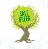 Concepto del cartel de Eco del vector de la reutilización de Live Think Green Recycle Reduce en fondo orgánico del Grunge Fotografía de archivo libre de regalías