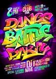 Concepto del cartel del partido de la batalla de la danza Fotos de archivo