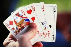 Concepto del casino - tarjetas fotos de archivo