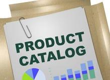 Concepto del CATÁLOGO de PRODUCTO Imagen de archivo libre de regalías