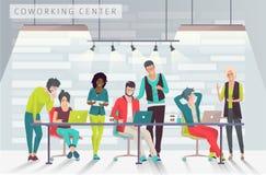 Concepto del centro coworking ilustración del vector