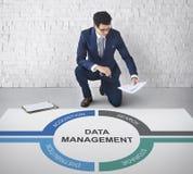 Concepto del centro de la protección de información de datos Foto de archivo