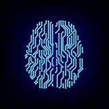 Concepto del cerebro de la placa de circuito Ilustración del vector stock de ilustración