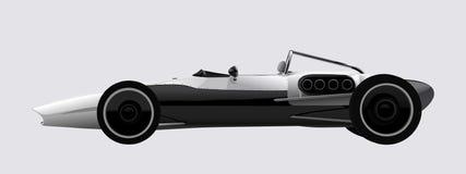 Concepto del coche de deportes del vector que compite con Imágenes de archivo libres de regalías