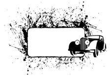 Concepto del coche de la vendimia ilustración del vector