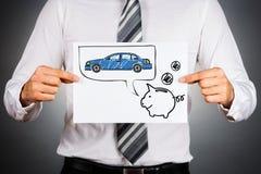 Concepto del coche del alquiler con opción a compra Foto de archivo libre de regalías