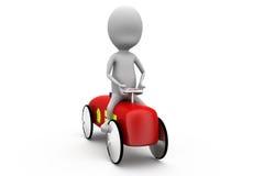 concepto del coche del hombre 3d Imagen de archivo libre de regalías
