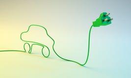 Concepto del coche eléctrico