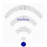 Concepto del collage de la palabra de WIFI en forma Fotos de archivo libres de regalías