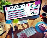 Concepto del comentario de la validación de la medida de la evaluación de la evaluación fotos de archivo libres de regalías