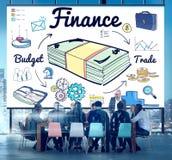 Concepto del comercio del gasto de la deuda del dinero de las finanzas foto de archivo libre de regalías