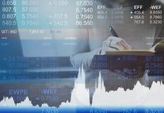 Concepto del comercio del mercado de las actividades bancarias de la moneda de las finanzas Fotografía de archivo libre de regalías