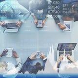 Concepto del comercio del mercado de las actividades bancarias de la moneda de las finanzas Foto de archivo