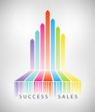 Concepto del comercio electrónico del éxito stock de ilustración