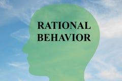 Concepto del comportamiento racional stock de ilustración