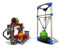 concepto del concepto de las impresoras 3D Foto de archivo libre de regalías