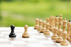 Concepto del conflicto del ajedrez imagen de archivo libre de regalías