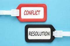 Concepto del conflicto y de la resolución imagen de archivo libre de regalías
