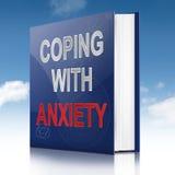 Concepto del consejo de la ansiedad. stock de ilustración