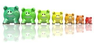 Concepto del consumo de energía del ahorro hecho de las huchas 3d libre illustration