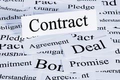 Concepto del contrato Fotos de archivo