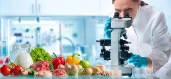 Concepto del control de calidad de la comida imagen de archivo