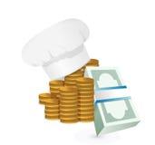 Concepto del coste de los beneficios o de los restaurantes del cocinero Fotografía de archivo libre de regalías
