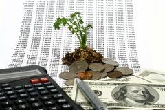 Concepto del crecimiento de dinero imagenes de archivo