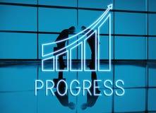 Concepto del crecimiento de la economía del progreso de la estrategia ilustración del vector