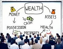 Concepto del crecimiento de la inversión de la posesión del dinero de la riqueza foto de archivo