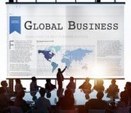 Concepto del crecimiento del establecimiento de una red de la importación de la exportación del negocio global foto de archivo libre de regalías