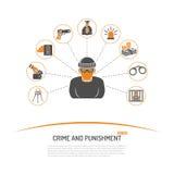 Concepto del crimen y del castigo del hurto Imagenes de archivo