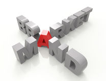 Concepto del crucigrama de la marca del mercado Imágenes de archivo libres de regalías