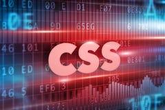 Concepto del CSS Imagen de archivo libre de regalías