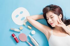 Concepto del cuidado de piel de la belleza fotografía de archivo