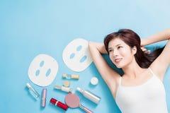 Concepto del cuidado de piel de la belleza fotos de archivo libres de regalías