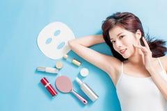 Concepto del cuidado de piel de la belleza foto de archivo libre de regalías