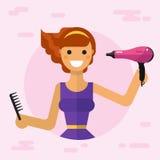 Concepto del cuidado del cabello Fotografía de archivo libre de regalías