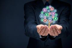 Concepto del cuidado del cliente o de los empleados Foto de archivo libre de regalías