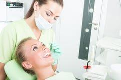 Concepto del cuidado dental Fotos de archivo