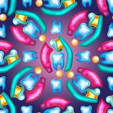 Concepto del cuidado dental La crema dental burbujea espuma Higiene oral Foto de archivo libre de regalías