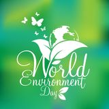 Concepto del día del ambiente mundial Deje la reserva del ` s el mundo junto vector el ejemplo Imagen de archivo