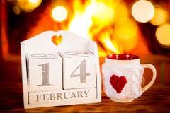 Concepto del día de fiesta del día de tarjetas del día de San Valentín Fotos de archivo