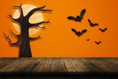 Concepto del día de fiesta de Halloween Estante vacío Imágenes de archivo libres de regalías