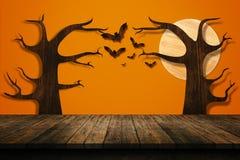 Concepto del día de fiesta de Halloween Estante vacío Imagen de archivo