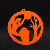 Concepto del día de fiesta de la decoración del fondo de Halloween fantasma en fondo negro Fotos de archivo