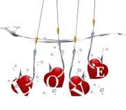Concepto del día de tarjeta del día de San Valentín Imagen de archivo libre de regalías