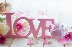 Concepto del día de tarjeta del día de San Valentín fotografía de archivo libre de regalías