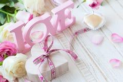 Concepto del día de tarjeta del día de San Valentín foto de archivo