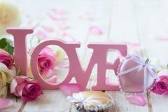 Concepto del día de tarjeta del día de San Valentín imagenes de archivo